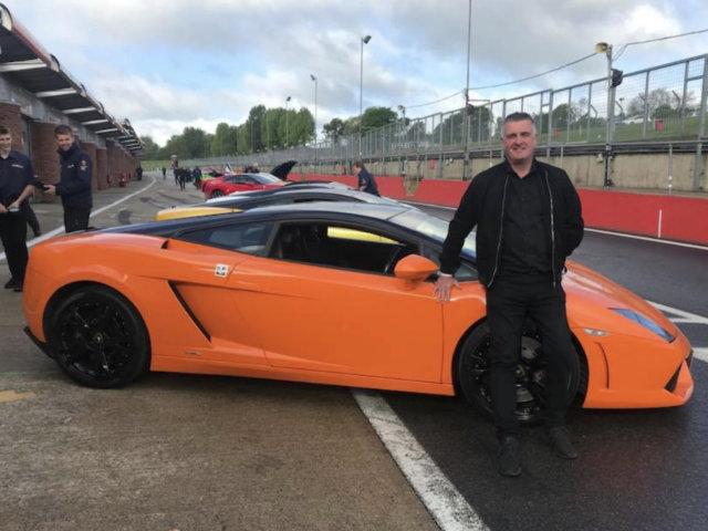 Lamborghini at a Brands Hatch track day